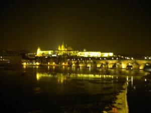 el castillo de noche